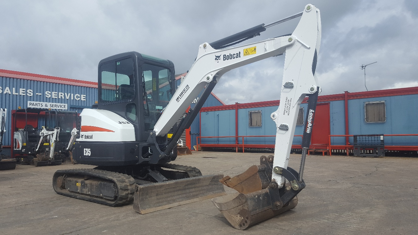 Used Bobcat E35 at AMS Bobcat Ltd - 0800 998 1354 <small>(Free from most landlines)</small>