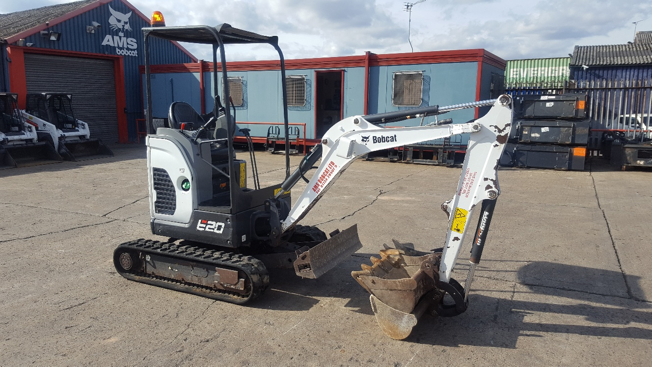Used Bobcat E20Z at AMS Bobcat Ltd - 0800 998 1354 <small>(Free from most landlines)</small>